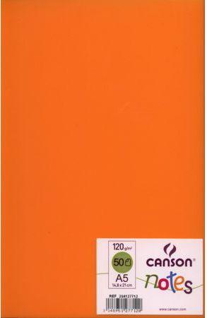 Canson Szkicownik Notes A5 Pomarańczowy 50k