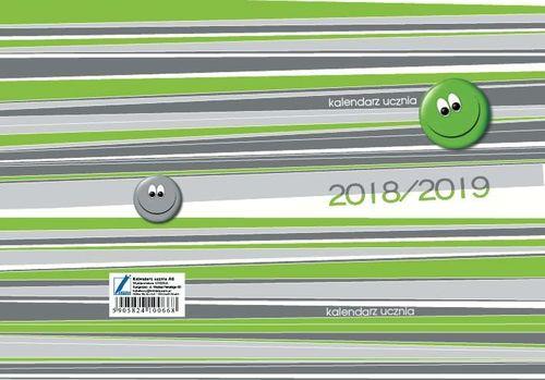 KRESKA Kalendarz ucznia A6 2018/2019 mix wzorów OT