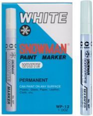 Snowman Pisak olejowy gruby biały