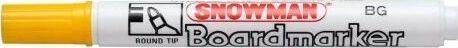 Snowman Marker permanentny żółty okrągły