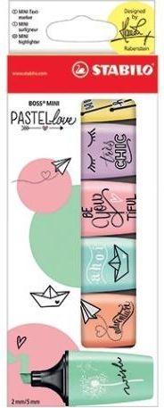 Stabilo Zakreślacz Boss Mini Pastellove 6 kolorów (283280)