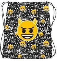 St. Majewski Plecak na sznurkach Emoji czarny
