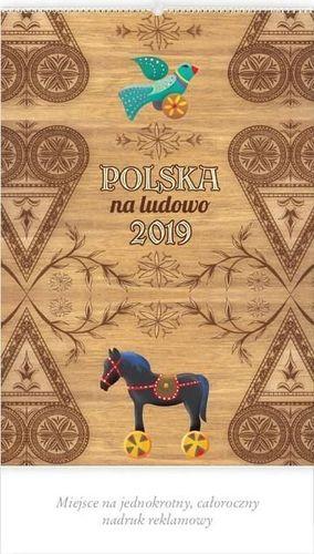 Lucrum Kalendarz 2019 Reklamowy Polska na ludowo RW9