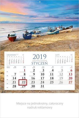 Lucrum Kalendarz 2019 Jednodzielny Wakacje KM2