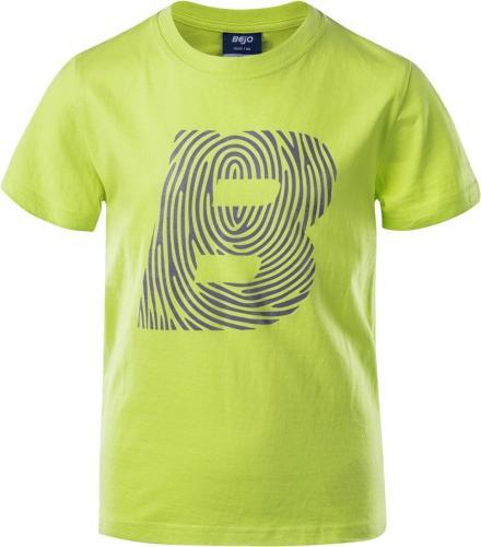 BEJO Koszulka dziecięca Logo BJ JRB limonkowa r. 158