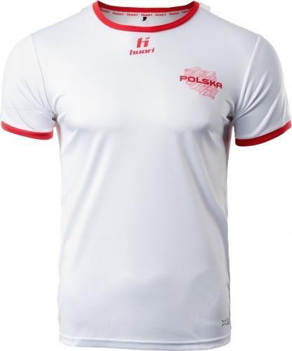 Huari Koszulka męska Poland Porteno Senior biało-czerwona r. M