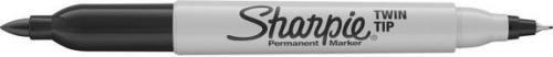 Sharpie Marker permanentny TWIN TIP, czarny, opakowanie 12 sztuk (NEW084)