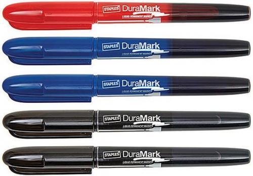 Staples Marker permanentny z płynnym tuszem mix kolorów 5/p (C60107)