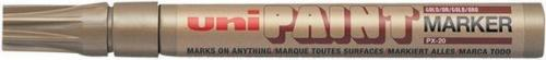 UNI-BALL Marker olejowy PX20, złoty (PX20OR)