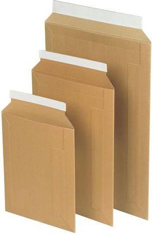 STAPLES Koperta kartonowa z paskiem samoklejącym 370x285mm brązowy, 50 sztuk