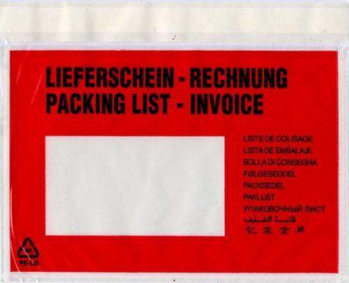 VP VP Kieszeń na dokumenty C6 175x140mm OKL, 250 sztuk (PRS989)