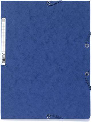 Exacompta Teczka Premium A4 plus 3-skrzydłowa z gumką, niebieski