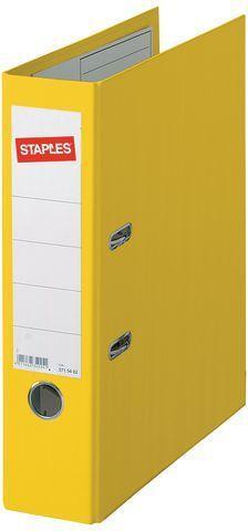 Segregator Staples Standard dźwigniowy A4 80mm żółty (C13755)