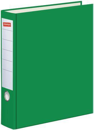 Segregator Staples Standard dźwigniowy A4 80mm zielony (C13753)