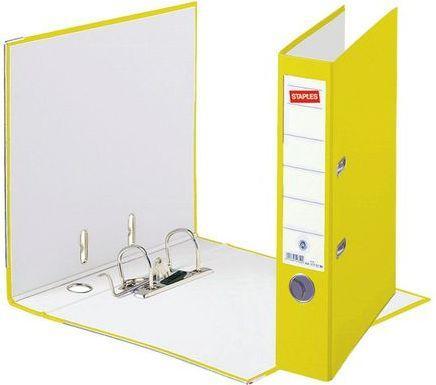 Segregator Staples Standard dźwigniowy A4 50mm żółty (C13555)