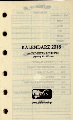 Elefant Wkład kalendarzowy A6 tyg. 2019