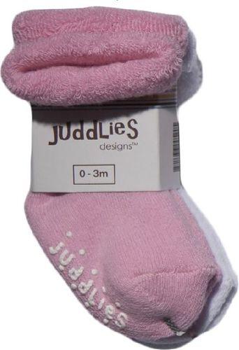 Juddlies Juddlies Skarpetki Niemowlęce Pink/White