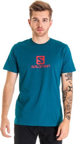 Salomon Koszulka męska Coton Logo SS Tee Moroccan Blue r. XL (403550)