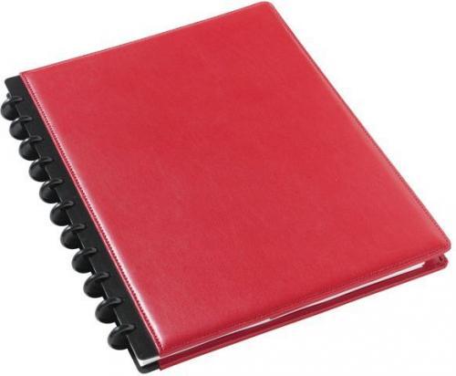 Staples Kołonotatnik skórzany ARC A4, czerwony 60 kartek (C57198)
