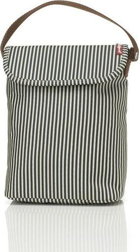 Babymel Torba Termiczna Stripe beżowo-czarna