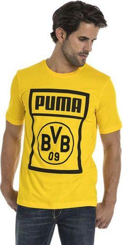 Puma Koszulka męska BVB Shoe Tag Tee  żółta r. L (754057-01)