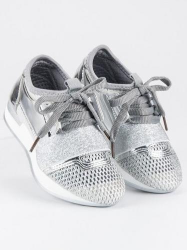 Merg Buty dziecięce wsuwane srebrne r. 29 (78260)