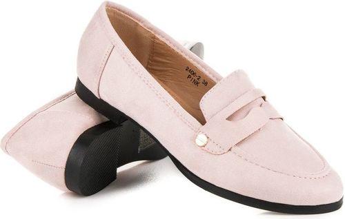 Sweet Shoes Mokasyny damskie wsuwane różowe r. 37