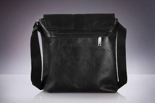 f24952ccf2c59 Solier Skórzana torba na ramię   tablet VALENTIN czarna w Morele.net