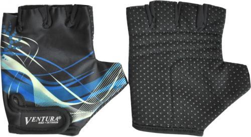 Ventura Bike Rękawiczki rowerowe czarno-niebieskie r. M (719985-M)