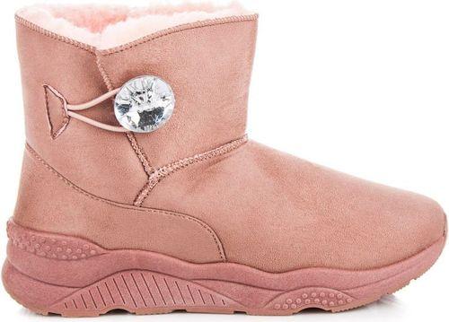 Anesia Paris Śniegowce damskie zapinane na guzik angeline różowe r. 37
