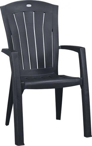 Curver Krzesło ogrodowe SANTORINI grafitowy (3253929156038)