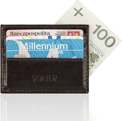 Solier Skórzany portfel wizytownik męski SOLIER  SUMMER