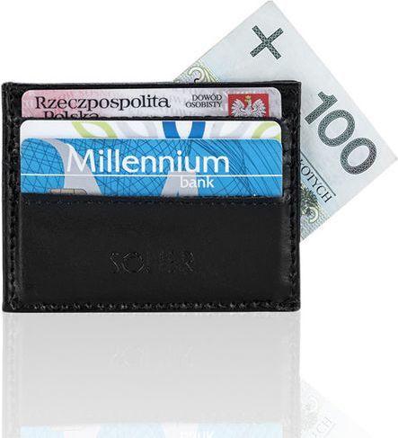Solier Skórzany portfel wizytownik męski SOLIER  ARABELLA