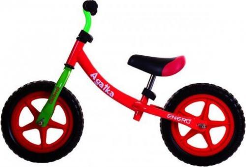 Victoria Sport Rowerek biegowy metalowy 2w1 Agatka 12'' czerwony