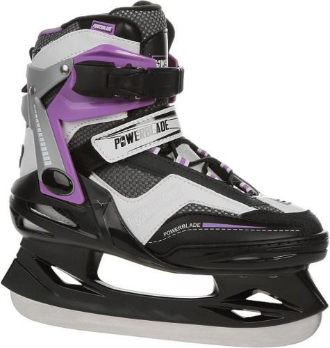 PB Łyżwy hokejowe Powerblade 25W czarno-fioletowe r. 37