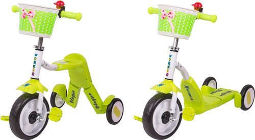 WORKER Hulajnoga trójkołowa rowerek dla dzieci 2w1 Blagrie Kolor Różowy