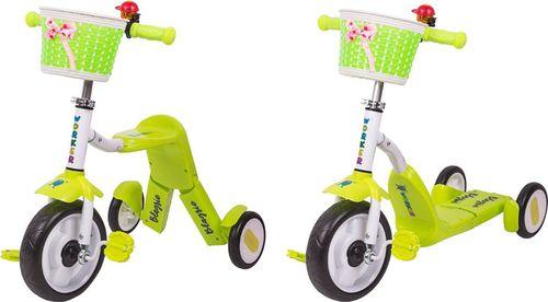 WORKER Hulajnoga trójkołowa rowerek dla dzieci 2w1 Blagrie Kolor Zielony