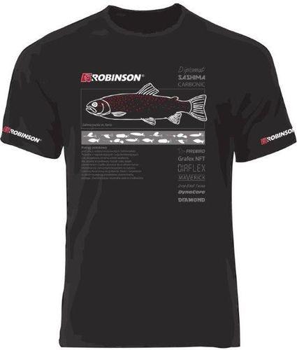 Robinson Koszulka męska Pstrąg czarna r. L (69-TR-RP)