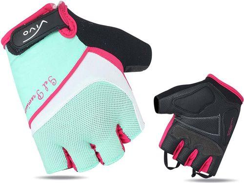 VIVO Rękawiczki rowerowe damskie SB-01-8501-D turkusowo-białe r. L (4962522)