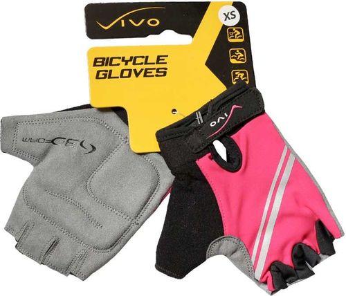 VIVO Rękawiczki dziecięce SB-01-5452 różowo-szare r. XS