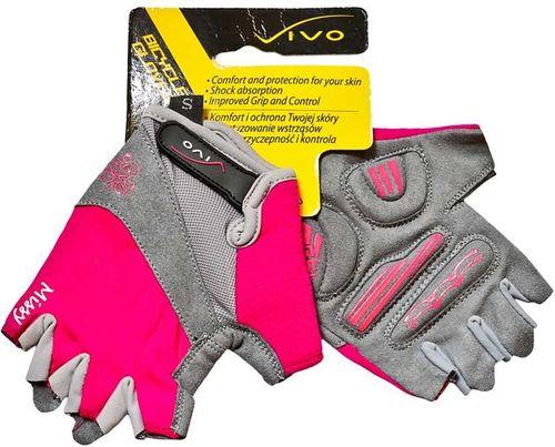 VIVO Rękawiczki rowerowe damskie SB-01-5277 różowo-szare r. M (4962402)