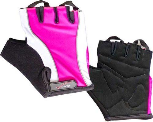 VIVO Rękawiczki rowerowe Lady SB-01-3160 czarno-różowe r. L (4962303)