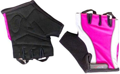 VIVO Rękawiczki rowerowe Lady SB-01-3160 czarno-różowe r. M (4962302)