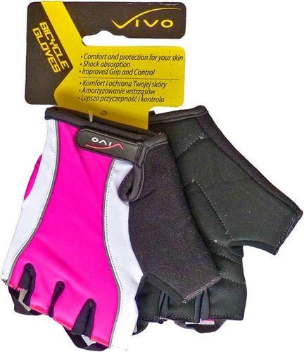 VIVO Rękawiczki rowerowe Lady SB-01-3160 czarno-różowe r. XS (4962300)