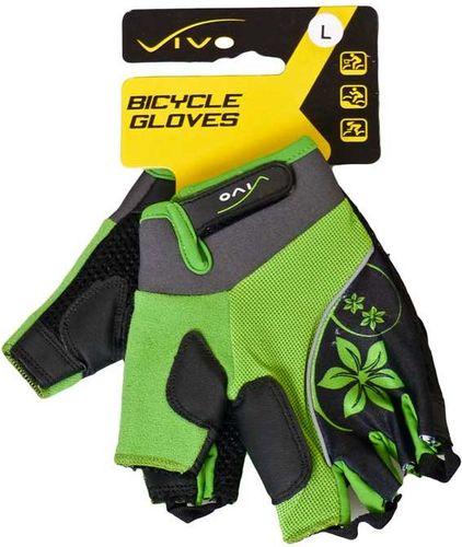 VIVO Rękawiczki rowerowe damskie Lady SB-01-3151 zielono-czarne r. L (4962253)