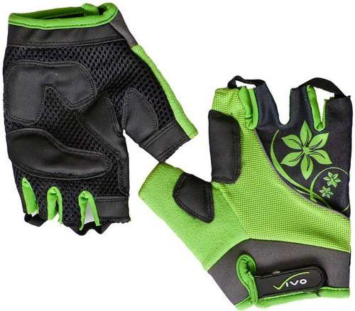 VIVO Rękawiczki rowerowe damskie Lady SB-01-3151 zielono-czarne r. S (4962251)