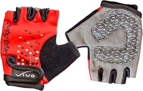 VIVO Rękawiczki rowerowe dziecięce SB-01-3169 czarno-czerwone r. XS