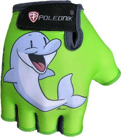 Polednik Rękawiczki rowerowe dziecięce Baby Delfin zielone r. S (3)