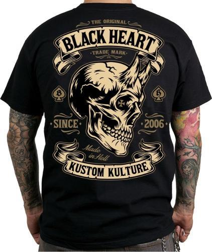 Black Heart Koszulka motocyklowa Devil Skull Kolor Czarna r. M (BH1-0100)