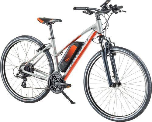 """Devron Damski crossowy rower elektryczny Devron 28162 28"""" - model 2018 Kolor Srebrny, Rozmiar ramy 18"""""""